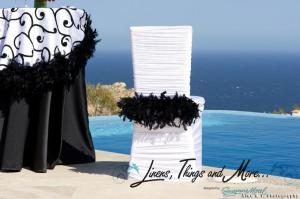 White and Black feather cover-chair Linens, Things and more... 2010 Collection