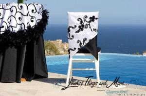 Black and white chair jacket Linens, Things and More... 2010 collection