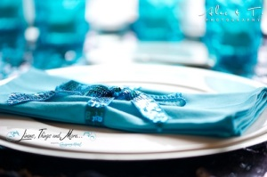 turquoise napkins cabo