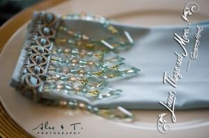 Blue Cabo wedding napkin