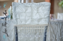champagne & ivory wedding chair cover Cabo