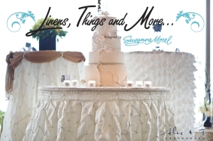 champagne & ivory wedding cake table Cabo