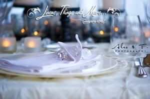 champagne & ivory wedding napkin Cabo