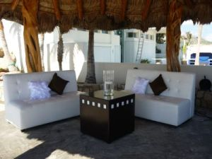 Wedding Lounge set-up at Catillo Escondido Los Cabos