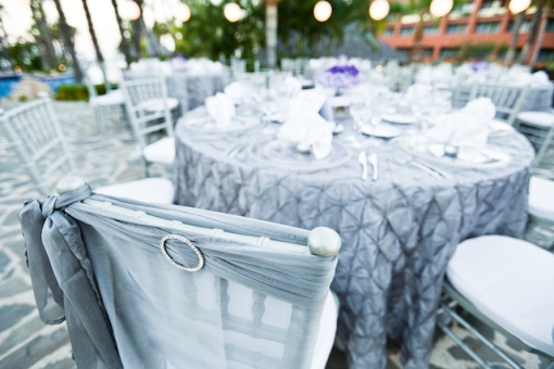 Silver wedding decor Cabo