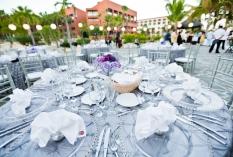 Silver wedding decor Cabo