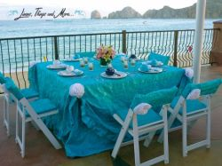 High end turquoise decor for a cabo wedding
