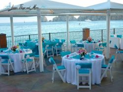 Hotel Del Arco turquoise wedding set-up