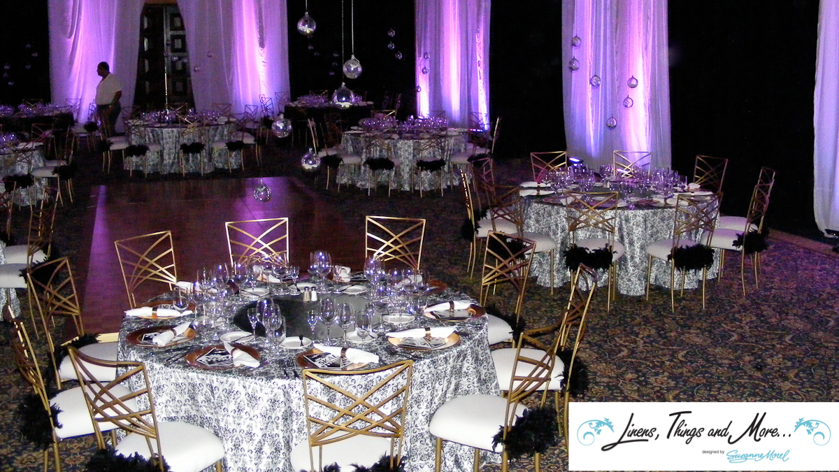 Black & White Upscale event decor Sheraton Hacienda del Mar in Los Cabos