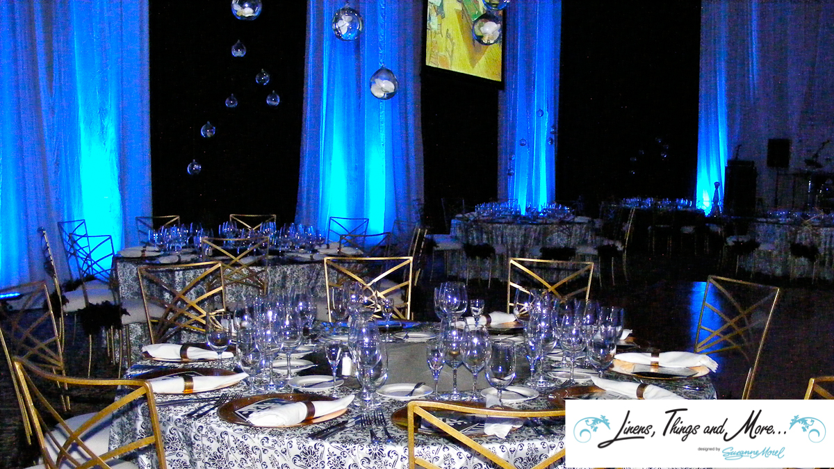 Black & White - Blue- Upscale event decor Sheraton Hacienda del Mar in Los Cabos