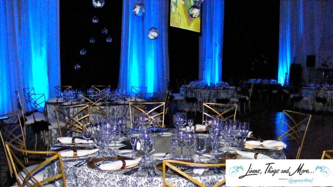Black & White - Blue- Upscale event decor Sheraton Hacienda del Mar in Los Cabos