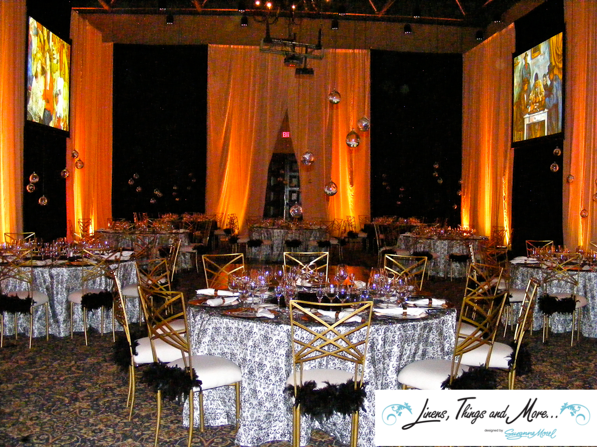 Black & White - Gold - Upscale event decor Sheraton Hacienda del Mar in Los Cabos