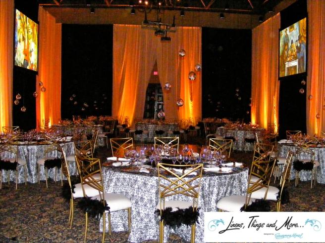 Black & White - Gold - Upscale event decor Sheraton Hacienda del Mar in Los Cabos