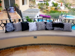 Black and White and silver pillows for your cabo event