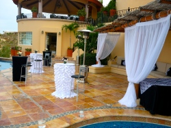 Black and White linens event los Cabos party