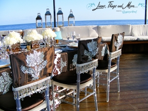 chair covers Cabo Azul clear chevarri chair