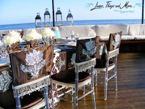 chair covers Cabo Azul clear chevarri chair