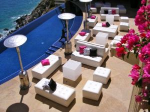Lounge Set-up by the pool at Villa Bellissima Cabo