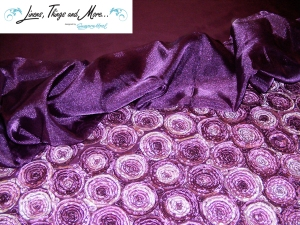 Eggplant organza and cake table for your wedding in Cabo