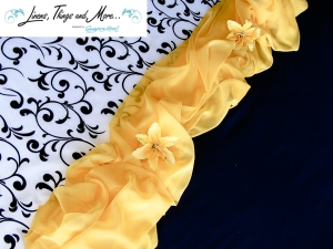 Fashion black and white and yellow Los Cabos wedding ideas
