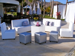 Corporate event and wedding set-up and decor at the Hilton
