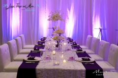 Sheraton high end wedding set-up and flowers