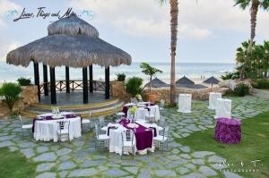 Sheraton Cabo palapa wedding set-up 2