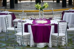 Sheraton Los Cabos palapa wedding decor and linens