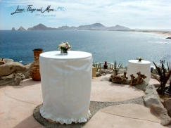 Sunset Da Mona Lisa Wedding Off white linens decor