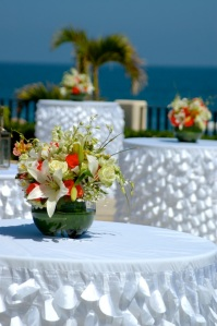 White on white Los Cabos wedding design
