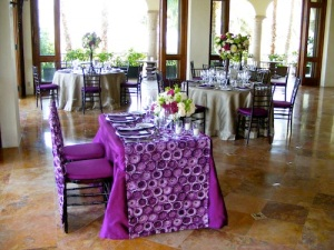 Eggplant Sweetheart table Cabo del Sol