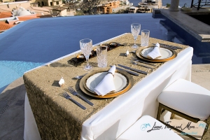 high end gold sequin table decor cabo party and wedding