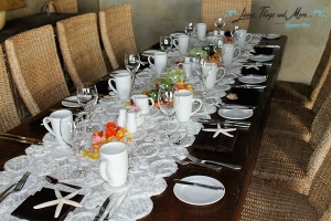 Runner for wood table - Event decor Cabo