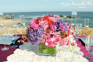 wedding flowers and linens Esperanza Los Cabos