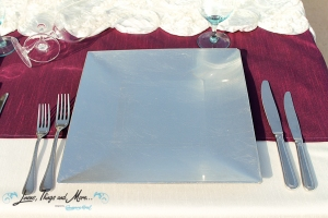 Los Cabos event and wedding Square silver chargers