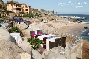 Intimate wedding decor Esperanza Resort
