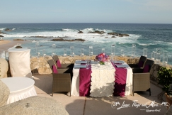 off white and eggplant linen decor cabo