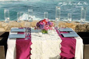 high end runner and tablecloth for your Cabo event