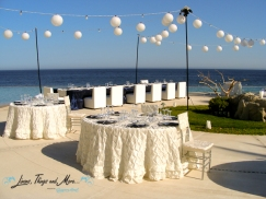 wedding decor at Marquis Los Cabos