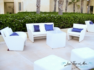 Wedding lounge set-up Marquis Los Cabos
