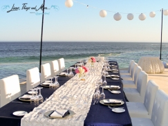 Imperial wedding table decor Cabo