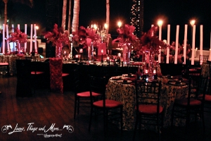 Black and pink event night in Cabo