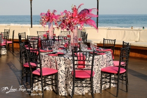 High end wedding set-up at Cabo Azul Resort