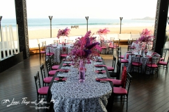 Bride and groom imperial table Cabo Event