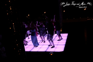 Lightening dance floor by Cabo Floral Studio