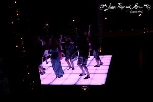 Lightening dance floor by Cabo Floral Studio