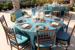 turquoise and brown high end event design