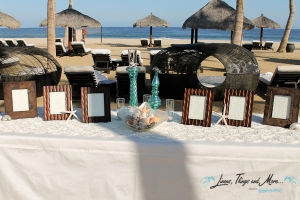 cabo wedding entrance card table