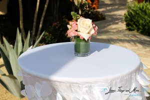 Villas Las Palmas wedding decor and linens