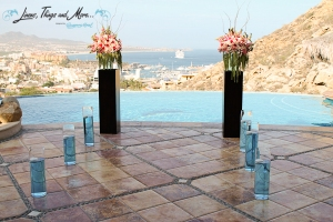 Villas Las Palmas Cabo wedding set-up